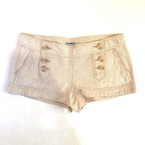 Express Sailor Inspired Linen Shorts Size 6